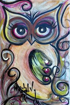 Funky Owl by Wendy LoVoy