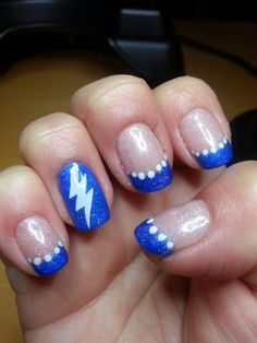 Inspired By The Tampa Bay Lightning Hockey Ibd Blue Haven Gelish