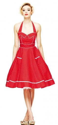 Hell Bunny Olivie Red Dress