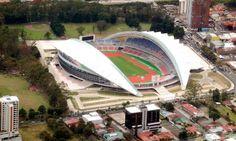 Nuevo Estadio Nacional de Fútbol de Costa Rica en San José de La Sabana Park.