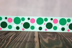 St. Patrick's Day Bubble Dots 5 yards 7/8 by HairbowSuppliesEtc