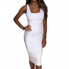 Buy Women Summer Bodycon Dress Scoop Collar Sleeveless O-neck Sexy Dresses  Sheath Clubwear Party Dress Vestidos De Festa Femme . c67ccbacb