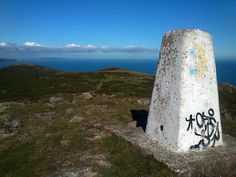 Bray Head Summit Trig Point. 791 ft above sea level. Co Wicklow, Ireland.