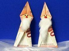 Weihnachtsmann aus Geldschein