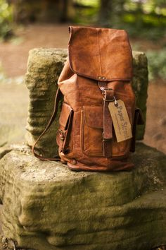 Leather Rucksack | make this vegan leather and I really like it.