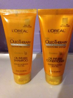 L'Oreal Oleo Therapy Sulfate Free Oil Infused Shampoo and Conditioner - new, deluxe sample size from Walmart Winter Box