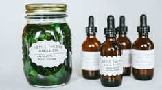 DIY nettle tincture (vodka, nettles) -- This talks about it for joint support but nettles are good for so much more!