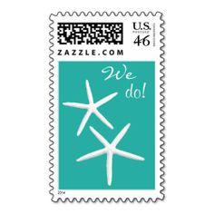 "Starfish ""We Do"" Lagoon Blue Postage Stamps"