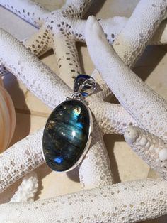 Labradorite Sterling Silver Necklace Labradorite by marmargourmet