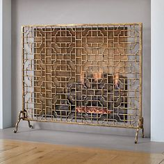 Neiman Marcus INTERLUDE Handcrafted Pyra Fireplace Screen made of ...