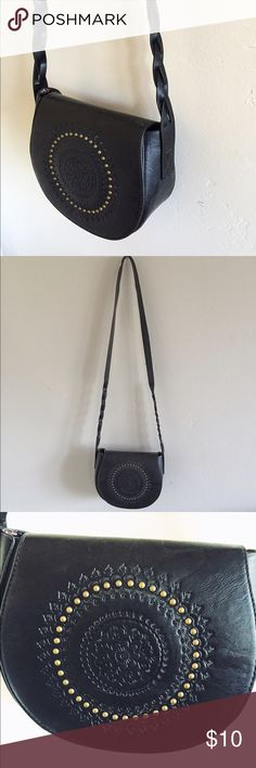 Black leather purse Small black purse with long strap. Used only a couple of times Forever 21 Bags Crossbody Bags