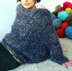 Sweater / tejido palillo, terminaciones en crochet, algodón, seda, hilos de pelo.