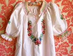Hungarian embroidered tunic  Flickr - Photo Sharing!