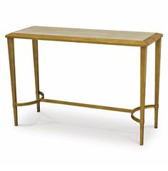Oxford Hollywood Regency Faux Shagreen Gold Console Table. #kathykuohome #HollywoodRegency