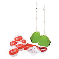 VOLLEYBALL ENGLAND SITTING VOLLEYBALL MULTISPORTS BASE EQUIPMENT PACKAGE contains everything you need to teach a sequence of lessons to enable a class to learn the fundamental skills required to play sitting volleyball.