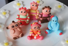 In the night garden edible cake topper set. iggle piggle, upsy daisy, makka pakka, and tombliboos by www.lucys-cakes.com, via Flickr