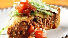 Recipe for a Taco Pie (In Finnish) Taco Pie, Sweet And Salty, Tex Mex, Meatloaf, Tapas, Sandwiches, Food And Drink, Beef, Snacks