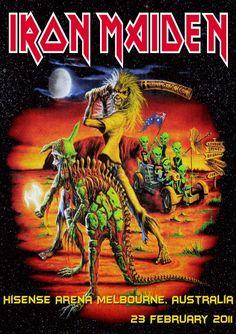 Iron Maiden-Hisense Arena Melbourne,Australia 2011-Poster Print    eBay