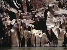 Schist rock formations