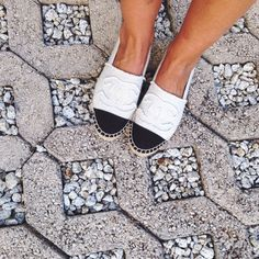 Chanel espadrilles. We're in love.