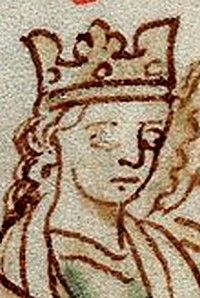 Eleanor of Provence (c. 1223 – 24/25 June 1291[1]) was Queen consort of England as the spouse of King Henry III of England from 1236 until his death in 1272.  Although she was completely devoted to her husband, and staunchly defended him against the rebel Simon de Montfort, 6th Earl of Leicester, she was very much hated by the Londoners.