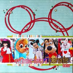 Everyone Loves A Parade scrapbook layout by Amy Bannon | Disneyscrappers