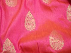 Magenta Yellow Brocade Fabric sold by yard for Bridal Wedding Dress Fabric Indian Banarasi Fabric for crafting sewing dress material Brocade Blouses, Brocade Dresses, Motif Design, Fabric Design, Dupioni Silk Fabric, Fabric Names, Indian Fabric, Bridal Wedding Dresses, Floral Motif