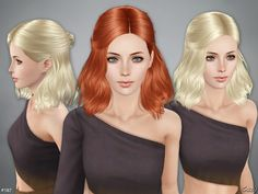 Hairstyle for Female, Teen through Elder.  Found in TSR Category 'Female Sims 3 Hairstyles'