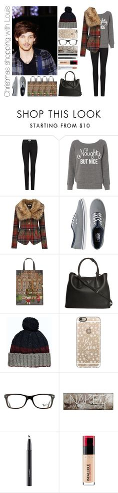 """""""Christmas shopping with Louis"""" by michaelssmile ❤ liked on Polyvore featuring Paige Denim, Joe Browns, Vans, Harrods, Prada, Boohoo, Casetify, Ray-Ban, Urban Decay and MAC Cosmetics"""