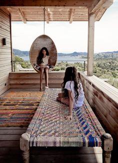Weekend Escape: A Vacation Home On Corsica - bench Porches, Daybed Outdoor, Beach House Style, Outdoor Spaces, Outdoor Living, Corsica, Interior Exterior, Interior Design, Home Design