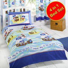 seven seas pirates 4 in 1 junior bedding bundle duvet covers set kids