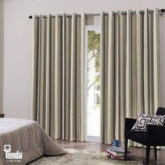 Levar uma cortina pra casa é levar aconchego, beleza, funcionalidade. Indispensável, ela fica bem em livings, salas, quartos e escritórios. #Tenda, a sua moda.