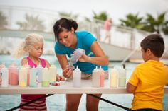 Kids enjoy all of the poolside activities including #SandyCandy! http://turquoiseplace.spectrumresorts.com/amenities.html