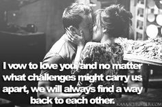 The vow! :)
