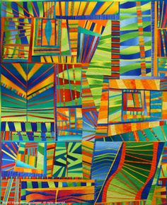 Sheila Frampton Cooper made Life in the City. I love this quilt!