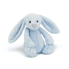Buy Jellycat: Bashful Bunny - Blue at Mighty Ape NZ. The ultimate in plush. Luscious fluffy soft ears and adorable felt noses and whiskers. These scrumptious little bashful friends are the epitome of st. Zara Home, Bunny Toys, Bunnies, Bunny Blue, Design Bleu, Doll Toys, Plush Dolls, Snuggles, Toys