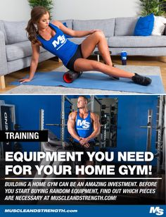 Building your very own gym at home can be one of the best investments you make. Before you start buying random equipment, find out which pieces are necessary! Training Equipment, No Equipment Workout, Training Programs, Training Tips, Building A Home Gym, Fight Club Rules, Muscle Up, Trendy Clothes For Women, Best Investments