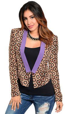 36e06a7d1da Geo Pattern Jacket -  FINAL. Jacket PatternFinal SaleCamisolesPrint  PatternsGeoFashion BoutiqueBaby DollsFabricBlouse