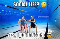 My social life is different 🏊🏼 original foto taken from @sarahsjostrom