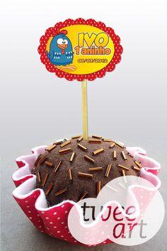 Topper de doces da Galinha Pintadinha.