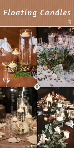 Check out some of the best and creative centerpiece ideas for rustic themed weddings. Burlap Wedding Decorations, Rustic Centerpieces, Rustic Wedding Centerpieces, Ceremony Decorations, Wedding Trends, Wedding Designs, Wedding Ideas, Greenery Garland, Floating Candles