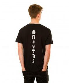 Heraldic Backbone T-shirt in Black