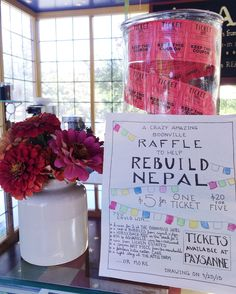 Rose raised $1,653 for Nepal by hosting a raffle at a local cafe.  Wineries, restaurants, massage therapists, and crafters donated their services. Tickets we sold for $5 a piece and provided an awesome platform to talk about the work!