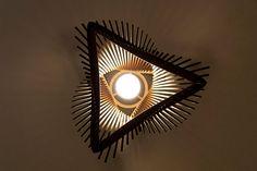 Twisted Lasercut Wooden Lampshade No.2 Medium by baraboda on Etsy