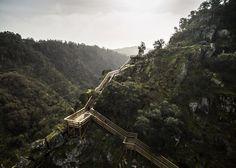 Portuguese photographer Nelson Garrido captures an eight-kilometres-long trail through a wild mountain landscape