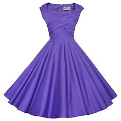 Maggie Tang 50s 60s Vintage Retro Swing Rockabilly Picnic Party Dress Purple S Maggie Tang http://www.amazon.com/dp/B00X9SXVHY/ref=cm_sw_r_pi_dp_ay2zvb1J79XT1