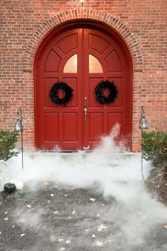 Use dry ice to spookify your wedding photos as seen on @offbeatbride #halloween #wedding