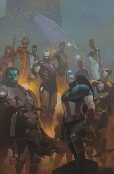 #Avengers #Fan #Art. (Avengers #24 Cover) By: Esad Ribic. (THE * 5 * STÅR * ÅWARD * OF: * AW YEAH, IT'S MAJOR ÅWESOMENESS!!!™) ÅÅÅ+