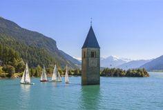 Reschensee, Vinschgau, Alps