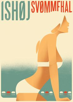Swimming Pool Poster by Mads Berg, via Behance